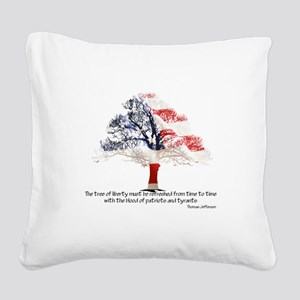 Tree Of Liberty Square Canvas Pillow