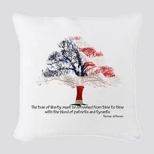 Tree Of Liberty Woven Throw Pillow