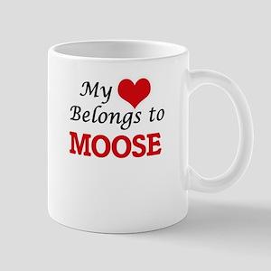My heart belongs to Moose Mugs