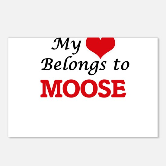 My heart belongs to Moose Postcards (Package of 8)