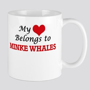 My heart belongs to Minke Whales Mugs