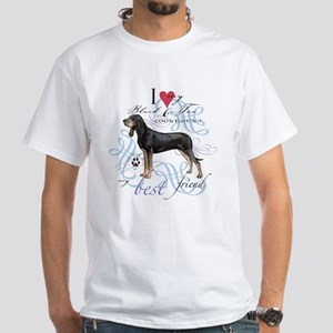 Black and Tan Coonhound White T-Shirt