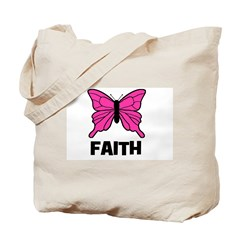 Butterfly - Faith Tote Bag