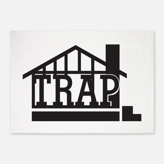 The trap house 5'x7'Area Rug