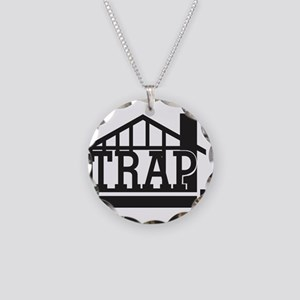 The trap house Necklace Circle Charm