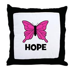 Butterfly - Hope Throw Pillow