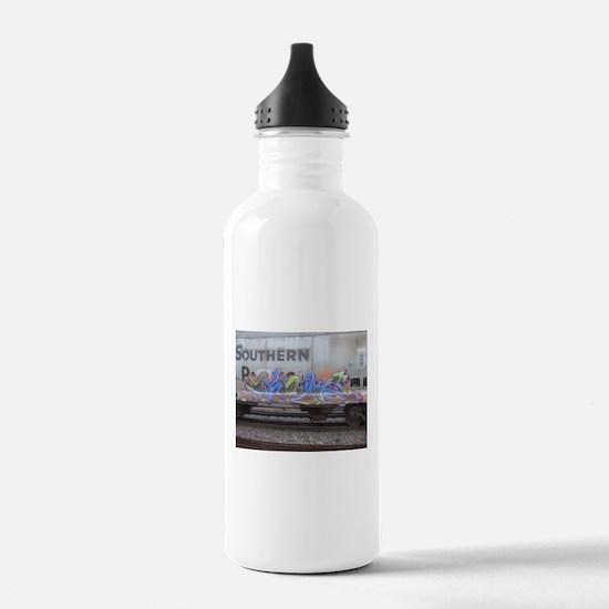 freight train graffiti Water Bottle