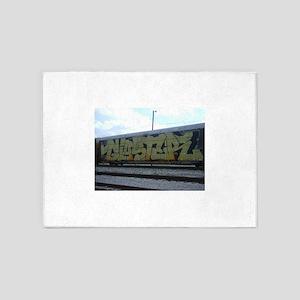fr8 train graffiti 5'x7'Area Rug