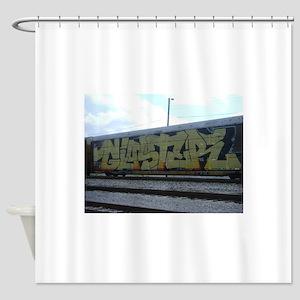 fr8 train graffiti Shower Curtain