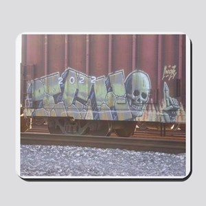 red box car graffiti Mousepad