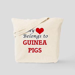 My heart belongs to Guinea Pigs Tote Bag