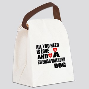 All You Need Is Love Swedish Vall Canvas Lunch Bag