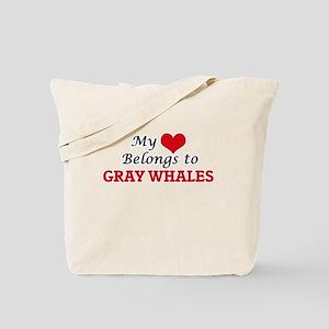 My heart belongs to Gray Whales Tote Bag