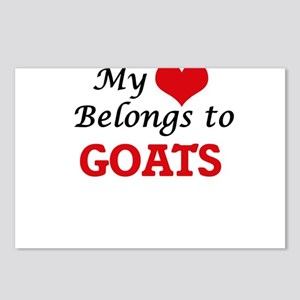 My heart belongs to Goats Postcards (Package of 8)