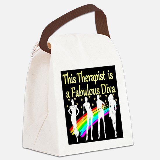 THERAPIST DIVA Canvas Lunch Bag