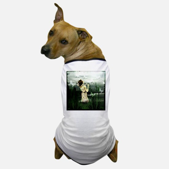 Woman With Butterflies Dog T-Shirt