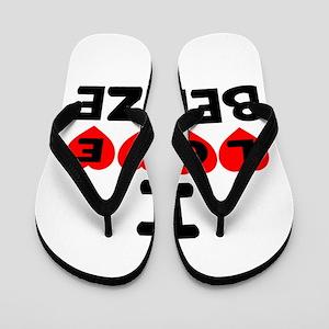 I Love Belize Flip Flops