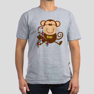 Monkey Autism Hope Men's Fitted T-Shirt (dark)