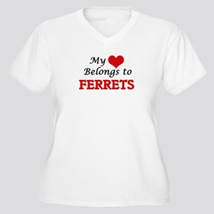 My heart belongs to Ferrets Plus Size T-Shirt