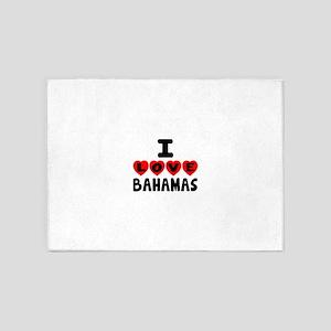 I Love Bahamas 5'x7'Area Rug