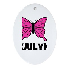 Butterfly - Kailyn Oval Ornament