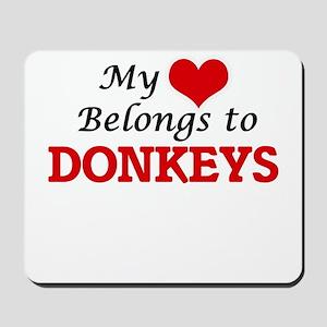 My heart belongs to Donkeys Mousepad