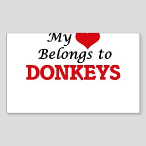 My heart belongs to Donkeys Sticker