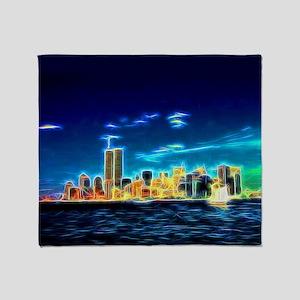 Manhattan Skyline, New York, USA Throw Blanket