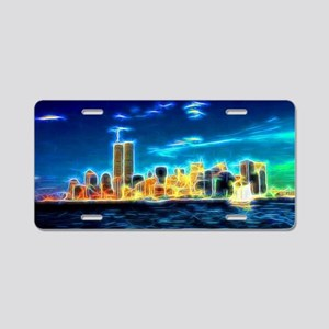 Manhattan Skyline, New York, USA Aluminum License