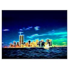 Manhattan Skyline, New York, USA Wall Art Poster