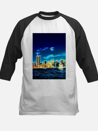 Manhattan Skyline, New York, USA Baseball Jersey