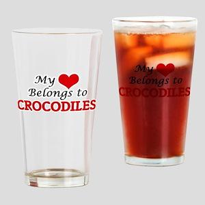 My heart belongs to Crocodiles Drinking Glass