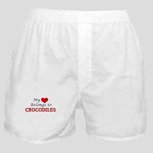 My heart belongs to Crocodiles Boxer Shorts