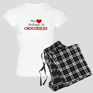 My heart belongs to Crocodi Women's Light Pajamas