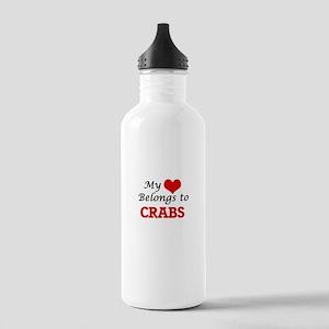 My heart belongs to Cr Stainless Water Bottle 1.0L