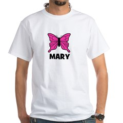 Butterfly - Mary White T-Shirt