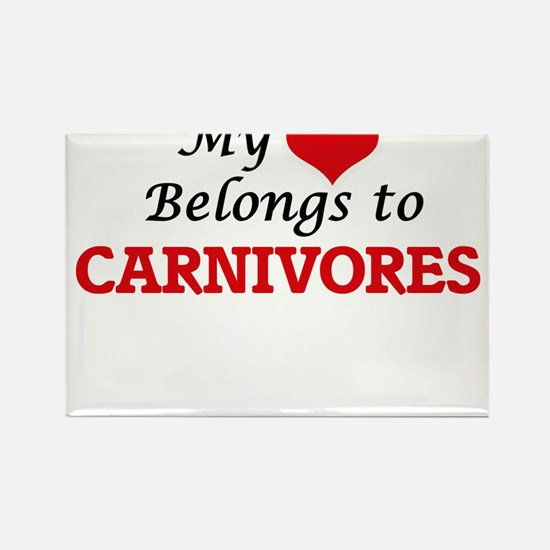 My heart belongs to Carnivores Magnets