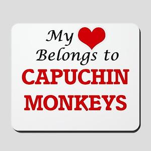 My heart belongs to Capuchin Monkeys Mousepad