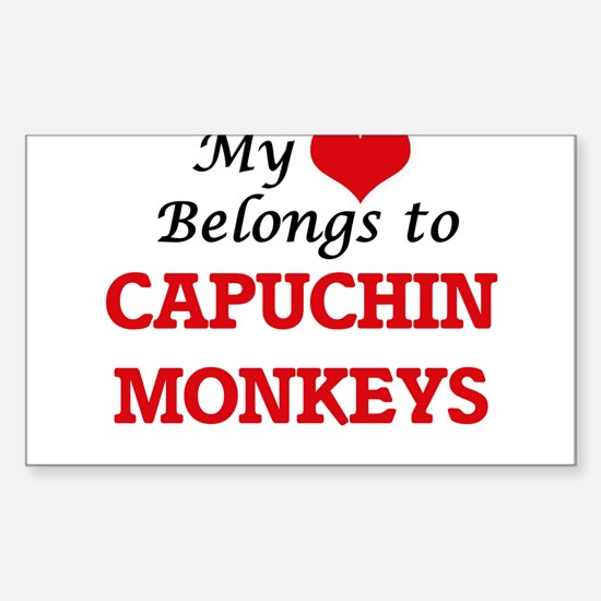 My heart belongs to Capuchin Monkeys Decal
