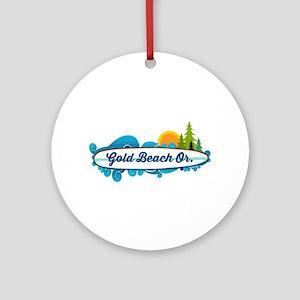 Gold Beach - Oregon. Round Ornament