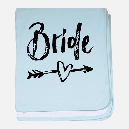 Bride Gifts Script baby blanket