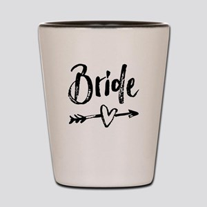 Bride Gifts Script Shot Glass