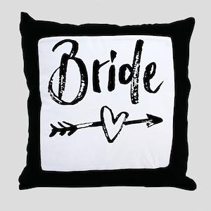 Bride Gifts Script Throw Pillow