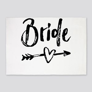 Bride Gifts Script 5'x7'Area Rug