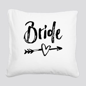 Bride Gifts Script Square Canvas Pillow