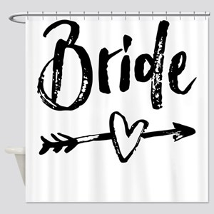 Bride Gifts Script Shower Curtain
