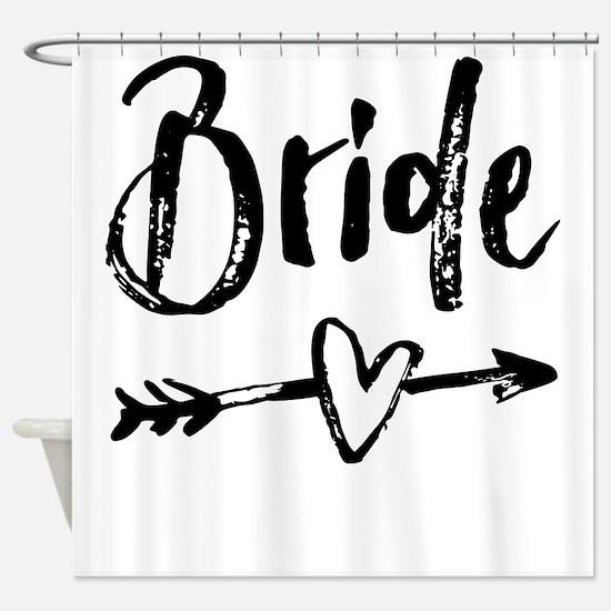 Bride Gifts Script Shower Curtain
