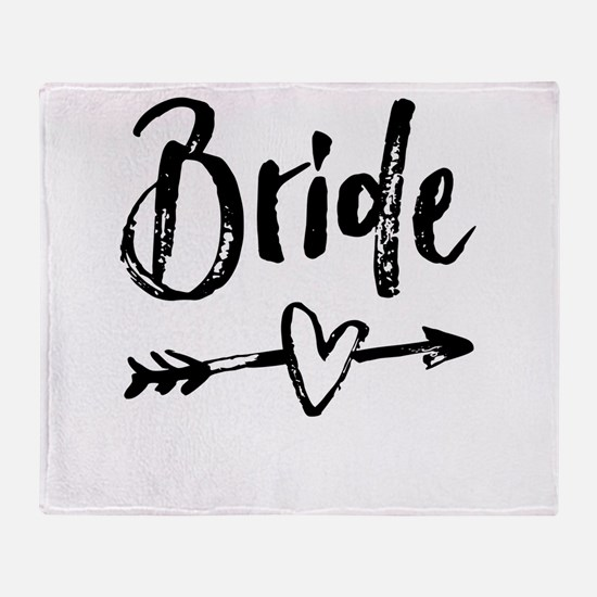 Bride Gifts Script Throw Blanket