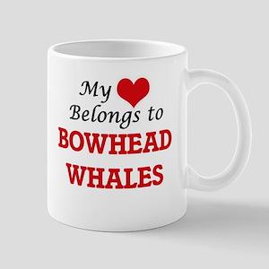 My heart belongs to Bowhead Whales Mugs