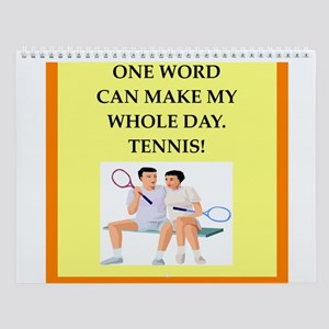 Tennis Player Wall Calendar